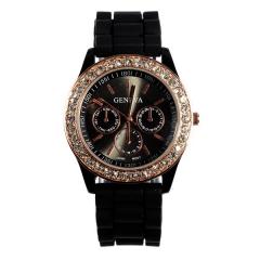 Watch Fashion Jelly Watch Wrap Quartz Casual Watch black