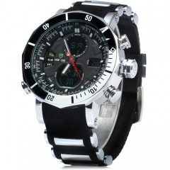 Men's Quartz Clock Digital LED Watch Army Military Sport Watch black