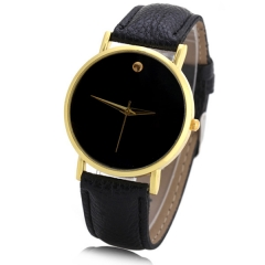 Women Swiss Watch Analog with Leather Watchband black