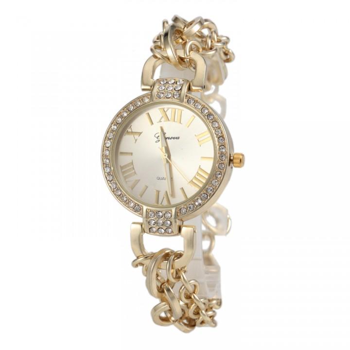 Female Chain Watch Quartz Wristwatch Fashion Watches golden