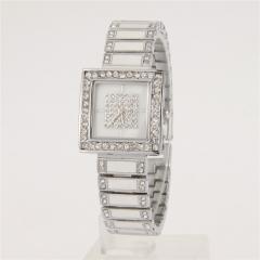 Ms luxury fashion drill style quartz watch silver
