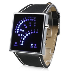 Unisex 29 LED Display Digital Wrist Watch (Black) Cool Watch Unique Watch black