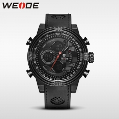 Weide meerdere tijdzone sport casual horloge voor mannen running buitensporten quartz black