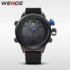 Weide sport militaire horloge multifunctionele quartz lcd blue