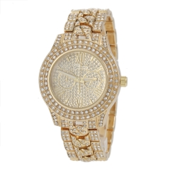 Women Dress Watches Ms drill watch more Fashion Watches golden