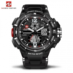 DZ LED Digitale Quartz Militaire Waterproof Sports Watch Digital quartz clock gift men and women black 0.2kg