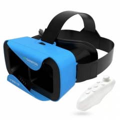 VR SHINECON 5.0 Glasses Virtual Reality VR Box 3D Glasses For 4.7-6.0 inch Phone With ControllerA