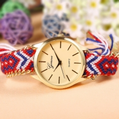 Women Watch Casual Quartz Watch Fashion Hand-Woven Rope Bracelet Watch 2