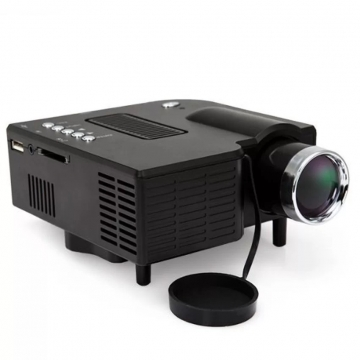 Portable Mini LED Projector Multimedia Home Movie TV Cinema Theater Digital LED PC&Laptop Proyector Black 14cm