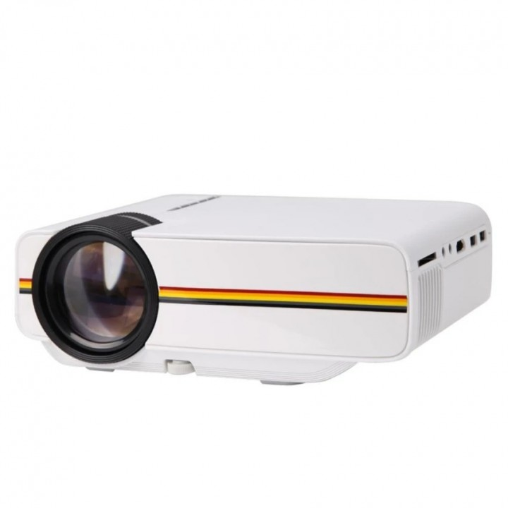 Portable Mini LED Projector 1000 Lumens PC USB HDMI AV VGA SD For Office/ Home Cinema Projector white 20cm
