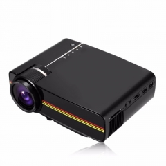 Portable Mini LED Projector 1000 Lumens PC USB HDMI AV VGA SD For Office/ Home Cinema Projector black 20cm
