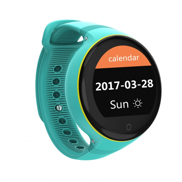 Smart Watch Waterproof Android Wristwatch GPS Tracking Positioning SOS Monitoring For Children Blue 3