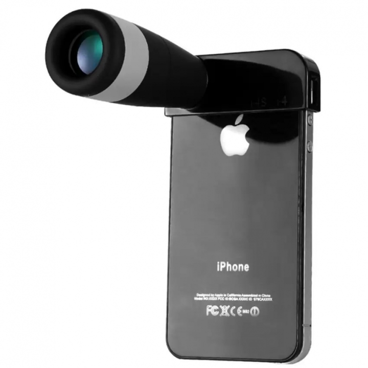 Eyeskey iphone Lenses Light Weight 8X Telescope Monoculars Wide Angle Camera Lens black