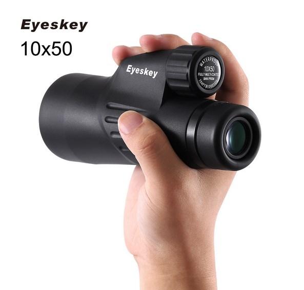 Eyeskey  Waterproof Monocular Binoculars Telescope  Optics  Camping Hunting Wildlife Spotting Scopes black