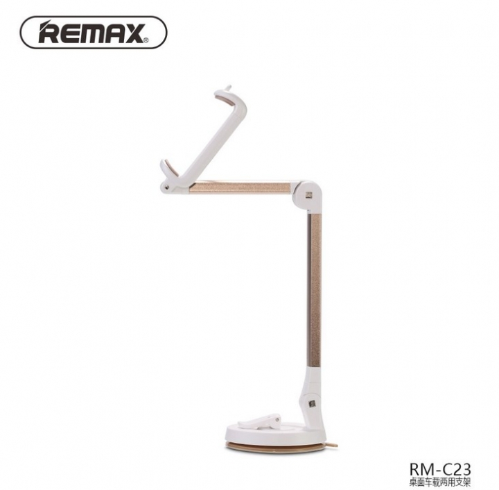 Remax 360 Degrees Foldable Portable Mobile Phone GPS Car Holder Home Desktop Holder silver 20