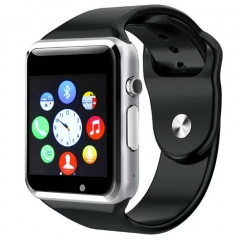 A1 Smart Watch  Support SIM TF Card Connectivity Apple iphone Android Phone Bluetooth watch silver 3