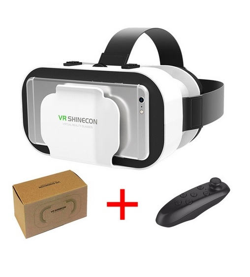 VR Glasses 3D Virtual Reality Play Game Console Movie For All Smart Phone With Bluetooth Controller A one size