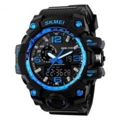 SKMEI Luxury Sports Watches Shock Resistant Men/Women LED Watch Military Digital Quartz Wristwatches blue 28cm