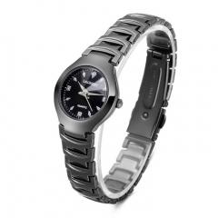 Classic Women Quartz Wristatch Waterproof Tungsten Steel Strap Lady Female Bracelet Watch Gift black