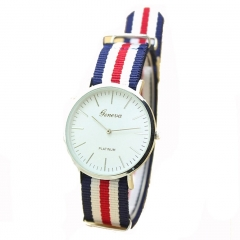 Men Watches Fashion Casual Quartz Watch Geneva Fabric Nylon Canvas Military Wristwatch 3 28cm