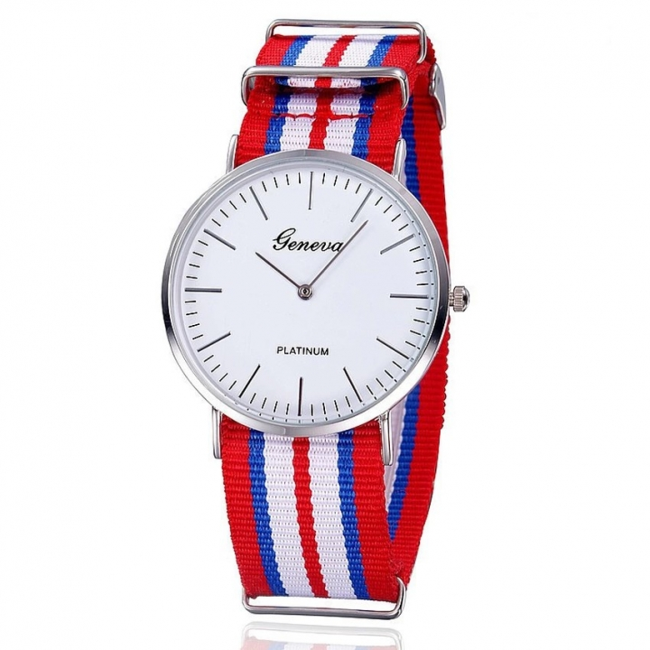 Men Watches Fashion Casual Quartz Watch Geneva Fabric Nylon Canvas Military Wristwatch 5 28cm