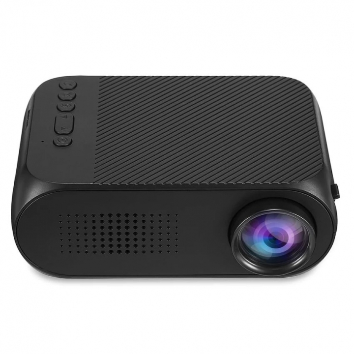 Portable LED Mini Home Office Projector Theater Cinema 1080P Video USB Pocket Projector black 14cm