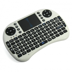 Mini USB Wireless Keyboard Touchpad Air Mouse Play Game  For Smart TV Android TV BOX PC Pad White 15