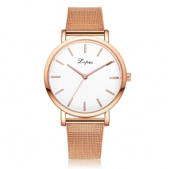 Fashion Womens Watch Crystal Stainless Steel Analog Quartz Ladys Watch Business Watch Rose Gold