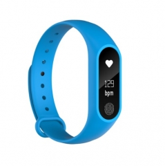 M2 Smart Watch Waterproof Heart Rate Monitor Bluetooth Sport Smart Band Bracelet Pedometer blue one size