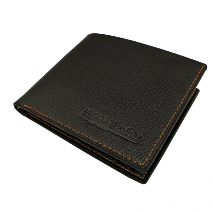 Men Wallets PU Leather Wallets  Male Purse Card Holder Wallet Fashion Wallet Black 12cm*9cm*2.5cm