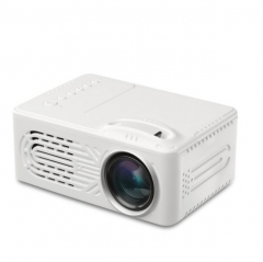 Portable Mini Home Projector Cinema Theater Office Projector Support 1080P white 12cm