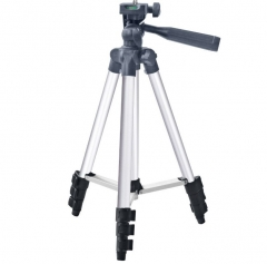Portable Extendable Tripod Stand Projector Holder For Phone DV Camera silver 35cm