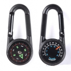 New Hiking Metal Carabiner Mini Compass Thermometer Sporting Outdoor green 5