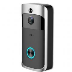 Smart Wireless Video Door Phone WiFi Security DoorBell Smart Visual Recording Remote Home Monitoring black 14cm