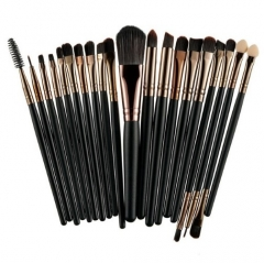 20Pcs Professional Makeup Brushes Set Powder  Eyeshadow Make Up Brushes Cosmetics Soft Synthetic Pink+Brown