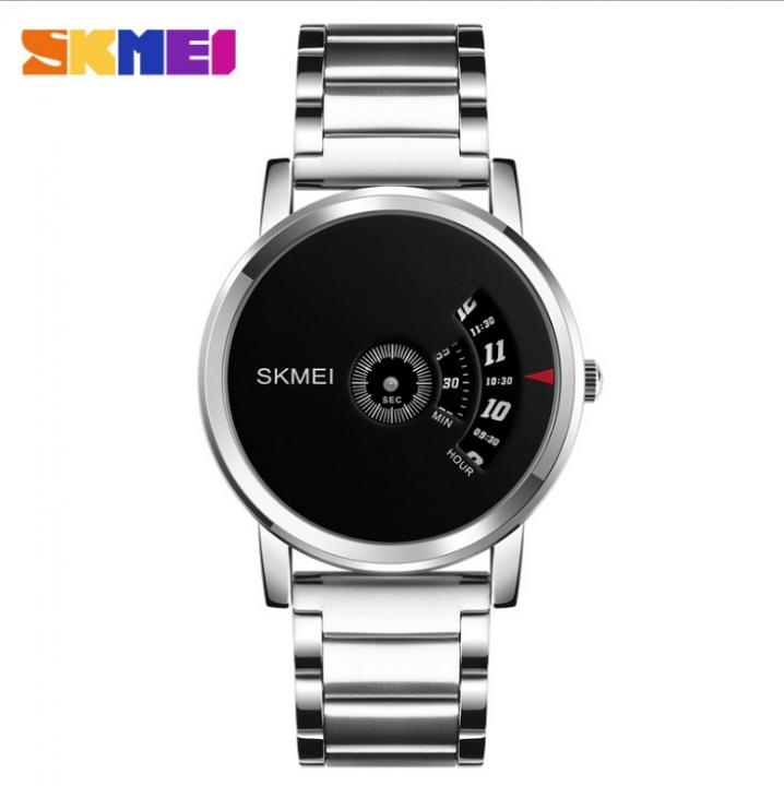 Skmei Men Quartz Watch Sport Watches Luxury Fashion Business Wristwatches Waterproof Male Clock silver 28cm