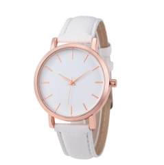 Women Watches Fashion Ladies Watches Leather Stainless Steel Analog Luxury Clock Wristwatch white 22cm