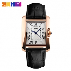 SKMEI Women Quartz Watches Luxury Fashion Casual Watch Leather Strap Lady Dress Girls black 22cm