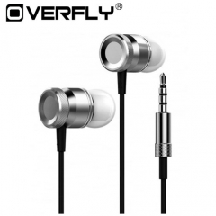 Super Bass Stereo Metal Earphones 3.5mm Jack Headset Free Hands Headphones With Mic For Phone PC Gray