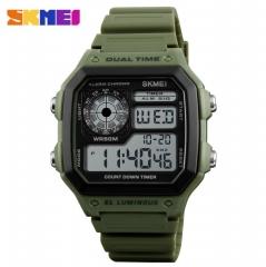 SKMEI Mens Watch Waterproof Sport Watch LED Digital Wristwatch black one size