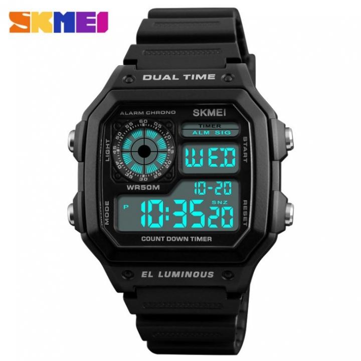 Men Fashion Business Blue-Ray Glass Watch Geneva Wristwatch black 28cm