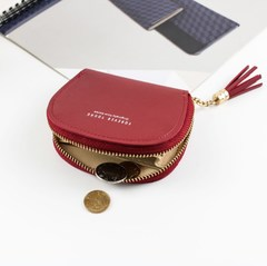 Mini Lady Fashion Short Women Wallets Money Purses Small PU Leather Female Coin Purse Card Holder Red 11cm