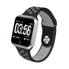 Waterproof Bluetooth Smart Watch Heart Rate Monitor Pedometer Call Reminder For iphone/Android Phone Black+Silver 3