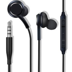 3.5mm jack In-ear Earphones Super Clear Low Bass Earphone Noise isolating Earbud Headset With Mic black