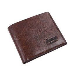 Men's Wallet Pu Leather Classic Short Multi-card Purse Credit Business Card Holders Deep Brown 10*11.5*0.5