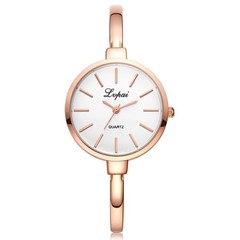 Lady Fashion Rhinestone Watches Women Watch Luxury Stainless Steel Bracelet Watches Quartz Clock rose gold 23CM