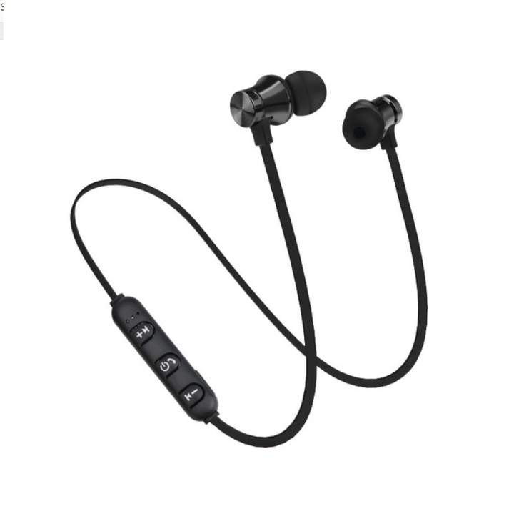 Bluetooth Earphones Magnetic Headphones Wireless Sports Bass Music Stereo With Mic Headset gray