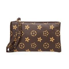 Women Wallets Fashion Handbags Clutch Coin Purse Smart Phone Pocket Women Money Bag Brown 18cm *10cm*2cm