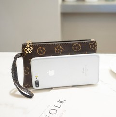 Women Wallets Handbags Clutch Coin Purse Smart Phone Pocket Money Bag Gifts Brown 18cm *10cm*2cm