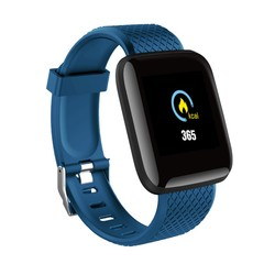 Smart Watches Blood Pressure Waterproof Fitness Tracker Heart Rate Monitor Smart Band Bracelet blue one size